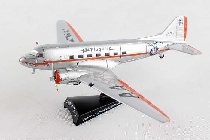 Postage Stamp American DC-3 Flagship Tulsa