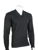 V Neck Sweater with Epaulets